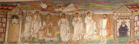 Благовещение. Мозайка отбазиликата Санта Мария Мажорев Рем, V век