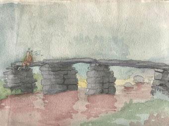 """""""Мъж стоящ на мост"""""""