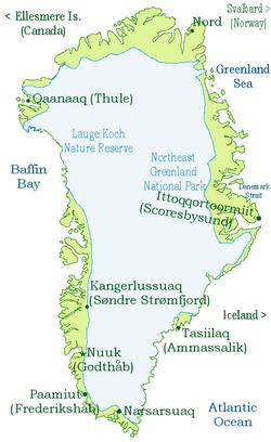 Карта на гренландия. Wikipedia